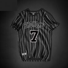 Slam Dunk No.7 Miyagi Ryota Tshirt Men Black Tee
