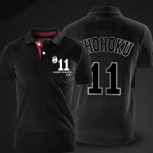 Slam Dunk Rukawa Kaede Polo Shirts Shohoku No.11 White Polo Shirt