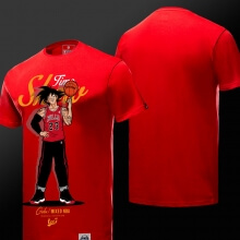 Son Goku T Shirt Red 4XL Couple Dragon Ball NBA Style T-shirt