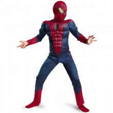 Spiderman Cosplay Boy Halloween Party Performance Costumes Kids Muscle Marvel Fantasy Superhero