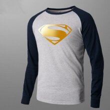 Superman Long Sleeve Graphic T Shirt