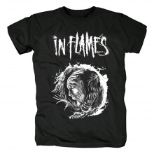 Sweden Metal Graphic Tees Personalised In Flames T-Shirt