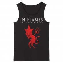 Sweden Metal Sleeveless Graphic Tees In Flames Tank Tops