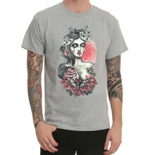 Tattoo Devil Rock Grey Print T-Shirt