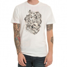 Tattoo Rock Print White T-Shirt