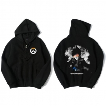 Tracer Hoodie Overwatch Black Zip Mens Clothing