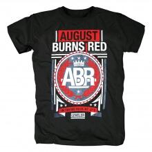 Ugust Burns Red T-Shirt Hard Rock Metal Punk Band Graphic Tees