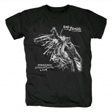 Unique Rob Zombie Spookshow International Live T-Shirt Metal Rock Graphic Tees