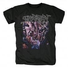 Us Black Metal Rock Graphic Tees Suffocation Band T-Shirt