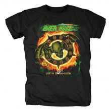 Us Metal Graphic Tees Personalised Overkill Band Live In Overhausen T-Shirt