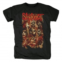 Us Metal Rock Graphic Tees Slipknot Band Knotfest Fire Flag T-Shirt