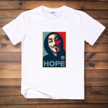 V for Vendetta Mask White Mens Tee Shirt