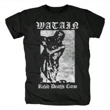 Watain Rabid Death'S Curse T-Shirt Black Metal Rock Shirts