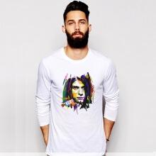 White Kurt Cobain Rock Tshirt Long Sleeve