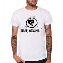 White Rise AgainstRock Band T Shirt