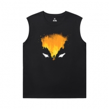 Marvel Wolverine Mens Designer Sleeveless T Shirts Dark Phoenix X-Men T-Shirt