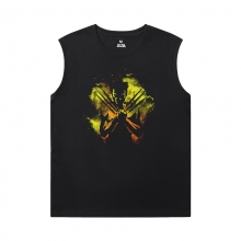 Marvel Wolverine Black Sleeveless Shirt Men Dark Phoenix X-Men Tee Shirt