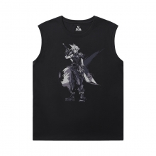 Final Fantasy Shirt Cotton Men'S Sleeveless Muscle T Shirts