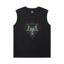 World Of Warcraft Sleeveless Tshirt Mens Blizzard Shirt