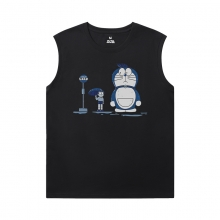 Doraemon Shirt Quality Round Neck Sleeveless T Shirt