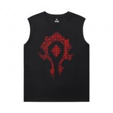 Blizzard Tshirts WOW World Of Warcraft Black Sleeveless T Shirt