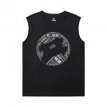 World Of Warcraft Black Sleeveless T Shirt Mens Blizzard T-Shirts