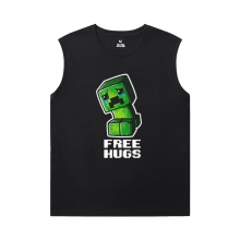 Minecraft T-Shirts Cool Creeper Cool Sleeveless T Shirts