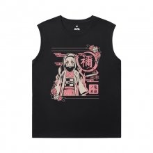 Demon Slayer Tees Anime Cotton Mens Sleeveless Tshirt