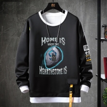 WOW Game Hoodie Fake Two-Piece Sweatshirts
