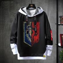 WOW Game Sweater Fake Two-Piece Sweatshirt