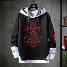 World Warcraft Jacket Fake Two-Piece Sweatshirt
