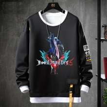Devil May Cry Coat Fake Two-Piece Nero Sweatshirts
