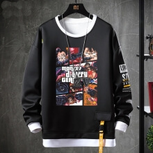 One Piece Sweatshirts Anime Black Coat