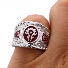 World of Warcraft Alliance Horde Logo Ring