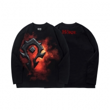 World of warcraft Horde Logo T-shirt Long Sleeve WOW Tee
