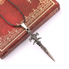World of Warcraft WOW Frostmourne Sword Necklace Pendant