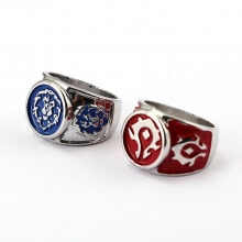 WOW Alliance Horde Logo Ring