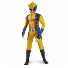 X-man Logan Cosplay Costume Kids Superhero Costume Halloween Stage Performance