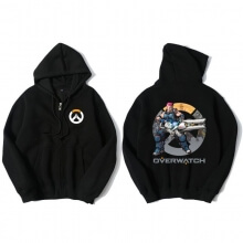 Zarya Overwatch Merch Black Zip Up Sweatshirt