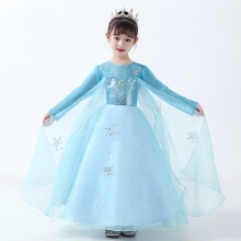 Girls Quality Disney Frozen 2 Elsa Dress Elsa Dress Up Costume For Kids