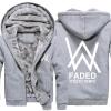 Winter Thick Hoodies Alan Walker Faded Winter Coat
