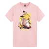 Naruto Pikachu T-Shirt Pokemon Mens Anime Shirts