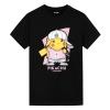 Hip Hop Pikachu T-Shirt Pokemon Anime Shirt Girl