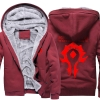 <p>Winter World of Warcraft Horde Logo Hoodie</p>