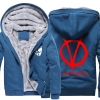 <p>Winter Coats V for Vendetta Logo Thick Hoodies For Winter</p>