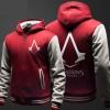 Assassin's Creed Hoodie Fleece Thick Zip Up Hooded Sweatshirt Men Boy Black Winter Coat