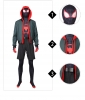 Black Spiderman Cosplay Costume Into the Spider-Verse Cosplay Rompers Jackets