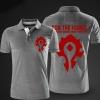 Blizzard WOW Horde Logo Polo T Shirts Black Polo Shirts For Men