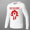 Blizzard WOW Horde Logo T-shirt World of Warcraft Long Sleeve Tee Shirt For Men