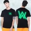 Cool Luminous Alan T-shirt Faded Black Tee for Men
